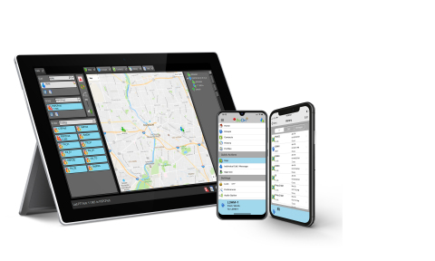 The L3Harris BeOn software application allows users to turn their smartphones, laptops and other devices into an encrypted public safety radio -- enabling immediate communications to individuals or large talk groups. (Photo: Business Wire)