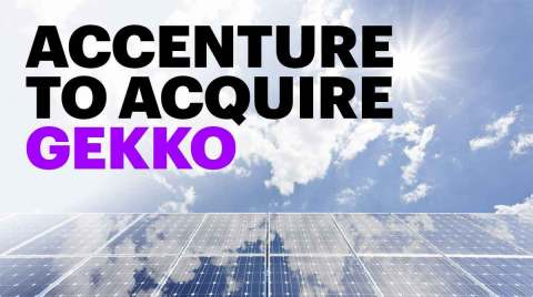 Accenture has agreed to acquire Gekko, a leading French Amazon Web Services cloud services company. (Photo: Business Wire)