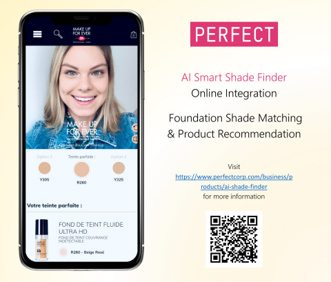 Perfect Corp. Partners with MAKE UP FOR EVER for AI-powered Foundation Shade Matching (Photo: Business Wire)