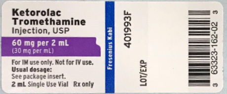 Fresenius Kabi USA, LLC is voluntarily recalling Ketorolac Tromethamine Injection, USP, 60 mg/2 mL (30 mg/mL), 2 mL fill in a 2 mL amber vial to the user level due to the presence of particulate matter. (Photo: Business Wire)