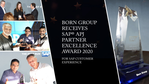 BORN Group Receives SAP® APJ Partner Excellence Award 2020 for SAP CUSTOMER EXPERIENCE (Photo: Business Wire)