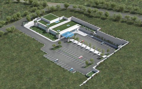 Rendering of the future Danbury Proton center. (Photo: Business Wire)