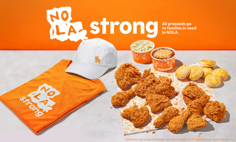 Popeyes® restaurants launch NOLA STRONG MEAL with all proceeds going to families in need in New Orleans (Photo: Business Wire)