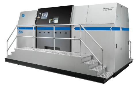 Protolabs will further expand its additive manufacturing production capabilities with the GE Additive Concept Laser X Line 2000R, the world's largest powder-bed metal additive system. (Photo: GE Additive)