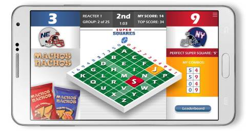 Super Squares® - Live Score-Matching Mobile Game Show (Graphic: Business Wire)