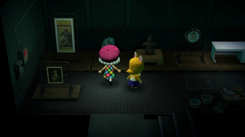 After downloading the free update, Jolly Redd will occasionally show up in his boat to sell in-game art, as well as furniture with unique colors. Like in previous Animal Crossing games, players will have to figure out which art pieces are real and which are fake. (Graphic: Business Wire)