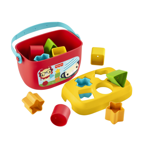 Fisher-Price Baby's First Blocks bundle, also made from sugarcane-based plastics, is available now for presale. (Photo: Business Wire)
