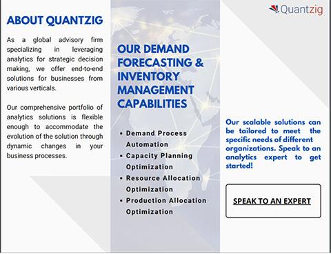 QUANTZIG'S DEMAND FORECASTING & INVENTORY MANAGEMENT CAPABILITIES