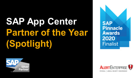 AlertEnterprise Named a Finalist for 2020 SAP® Pinnacle Award in SAP App Center Partner of the Year (Spotlight) Category (Graphic: Business Wire)
