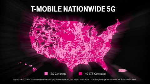 T-Mobile's Network Already Getting Bigger & Better with Sprint (Graphic: Business Wire)