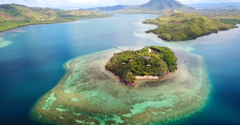 Accenture, Intel and Sulubaaï Environmental Foundation use artificial intelligence to rebuild the coral reef surrounding the Pangatalan Island in the Philippines. (Photo: Business Wire)