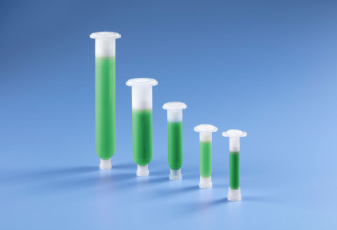 Optimum ECO industrial syringe barrels and dispensing components help lower the carbon footprint with renewable, eco-friendly resins made from sugarcane stock. (Photo: Business Wire)