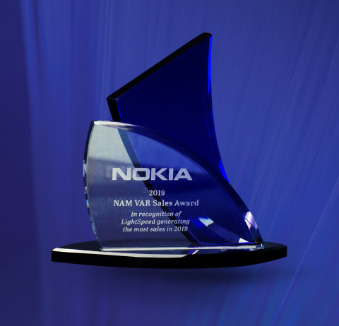 Top VAR Sales and Growth Award from Nokia (Photo: Business Wire)