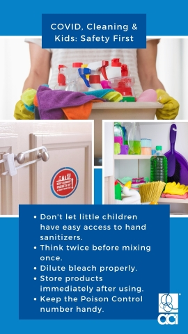 The American Cleaning Institute (cleaninginstitute.org) is sharing important safety reminders as Americans look to clean and disinfect at home during the COVID-19 crisis. (Graphic: Business Wire)