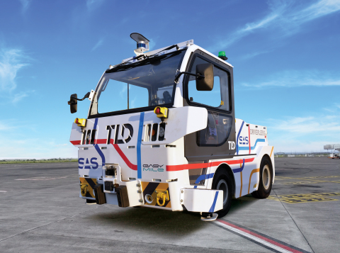 TLD uses Velodyne lidar sensors in production of its TractEasy® autonomous electric baggage tractor that enables a significant increase in productivity, efficiency and labor savings in airport and industrial operations. (Photo: Velodyne Lidar)