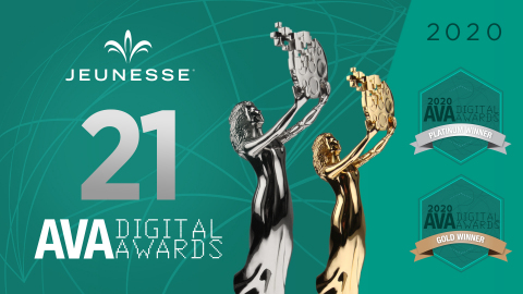 Jeunesse Global® has been honored with more than 20 awards in the AVA Digital Awards, an international competition recognizing outstanding work in digital communications. (Photo: Business Wire)