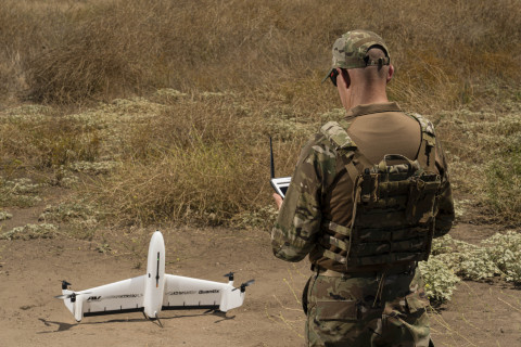 AeroVironment's new Quantix™ Recon, a fully-automated reconnaissance unmanned aircraft system. (Photo: Business Wire)