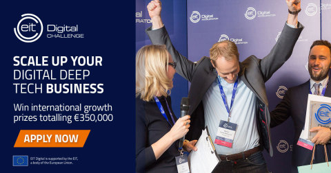 Deep Tech Scaleups: Apply Now to the EIT Digital Challenge 2020 (Photo: Business Wire)