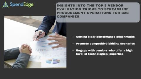 Top 5 Vendor Evaluation Tricks to Streamline Procurement Operations for B2B Companies (Photo: Business Wire)