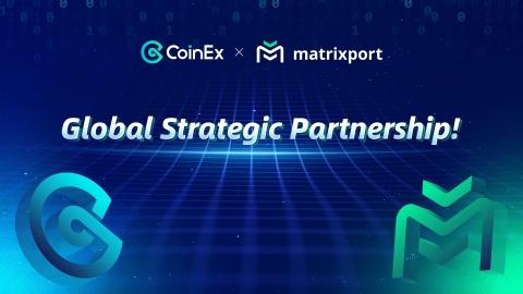 CoinEx и Matrixport объявляют о глобальном партнёрстве, призванном улучшить обслуживание пользователей. (Графика: Business Wire)