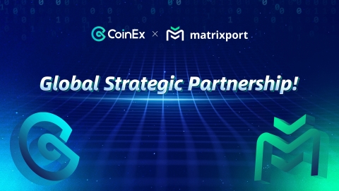 CoinEx and Matrixport announce global partnership to provide better service to users. (Graphic: Business Wire)