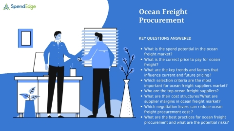 SpendEdge has announced the availability of its latest report on ocean freight Procurement for pre-order. (Graphic: Business Wire)
