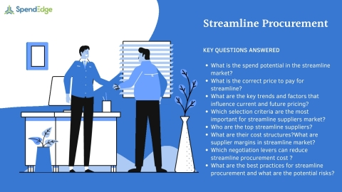 SpendEdge has announced the availability of its latest report on Streamline Procurement for pre-order. (Graphic: Business Wire)
