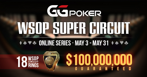 At Least $100 Million To Be Won In GGPoker's WSOP Super Circuit Online Series (Graphic: Business Wire)
