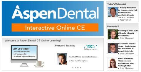 Aspen Dental CE Online Learning (Graphic: Aspen Dental Management Inc.)