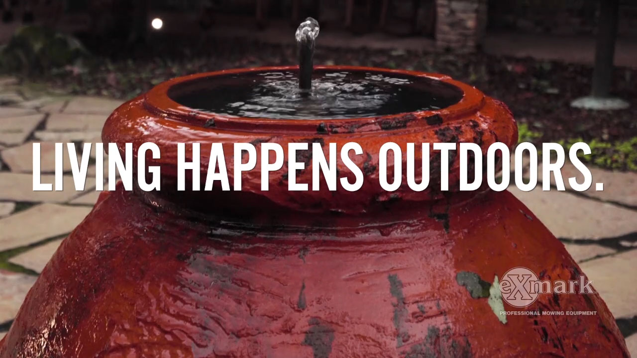 In Exmark's new video, 'Go With the Flow', landscape designer Doug Scott explains how water features can enhance the beauty of virtually any back yard.
