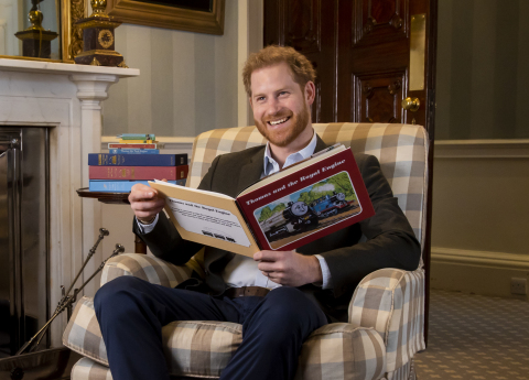 In honor of the Thomas & Friends 75th Anniversary, Harry, The Duke of Sussex, introduces Thomas & Friends: The Royal Engine special. (Photo: Business Wire)