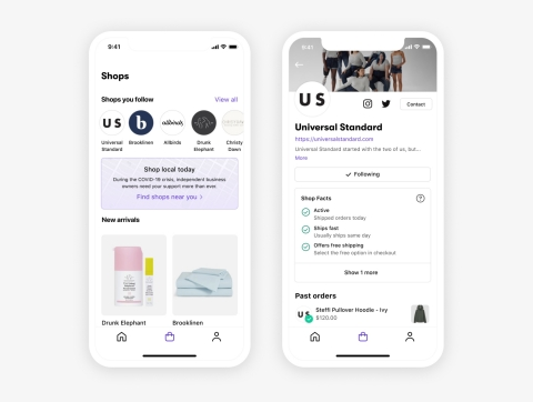 Shop, a first-of-its-kind shopping assistant app combining discovery of local businesses, personalized recommendations, seamless payment and tracking (Graphic: Business Wire)