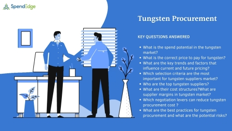 SpendEdge has announced the availability of its latest report on Tungsten Procurement for pre-order. (Graphic: Business Wire)