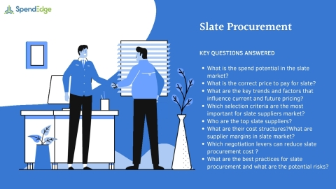 SpendEdge has announced the availability of its latest report on Slate Procurement for pre-order. (Graphic: Business Wire)