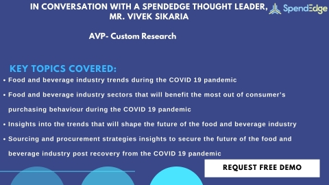 SpendEdge has recently announced the completion of its latest Q&A article on the future of the food and beverage industry (Graphic: Business Wire)