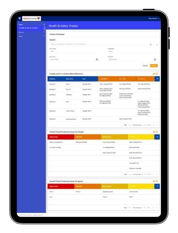 AlertEnterprise Health & Safety Tracker dashboard (Graphic: Business Wire)
