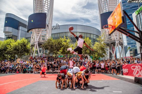 Nike Basketball 3ON3 Tournament at L.A. LIVE, California's largest street basketball tournament, has been cancelled for 2020 due to health concerns related to the COVID-19 epidemic. (Photo: Business Wire)