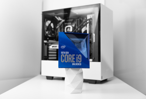 In April 2020, Intel announces new desktop processors as part of the 10th Gen Intel Core processor family, including Intel's flagship Core i9-10900K processor, the world's fastest gaming processor. (Credit: Intel Corporation)