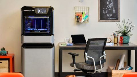 The office-friendly Stratasys J55 3D printer makes full-color, high-fidelity realism affordable for design teams everywhere (Photo: Business Wire)