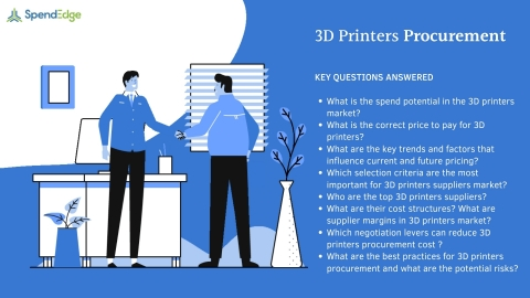 SpendEdge has announced the availability of its latest report on 3D Printers Procurement for pre-order (Graphic: Business Wire)
