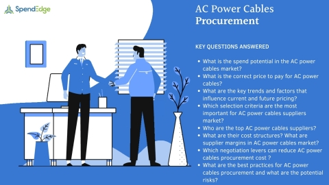 SpendEdge has announced the availability of its latest report on AC Power Cables Procurement for pre-order (Graphic: Business Wire)