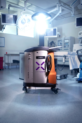 The Xenex LightStrike Germ-Zapping Robot  is the first and only UV disinfection technology proven to destroy the actual SARS-CoV-2 virus, which causes COVID-19. (Photo: Business Wire)
