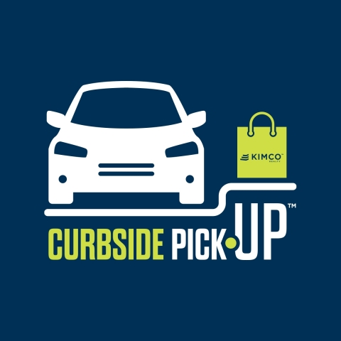 Kimco is designating curbside pickup parking spots at its centers for use by all tenants and their customers. (Graphic: Business Wire)