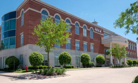 Photo: Aptar's Corporate Headquarters in Crystal Lake, IL