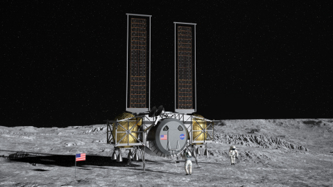 Maxar will support Dynetics in designing and building a lunar human landing system for NASA. Image: Dynetics