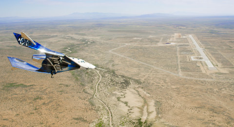SpaceshipTwo Unity flying free in the New Mexico Airspace for the first time (Photo: Business Wire)