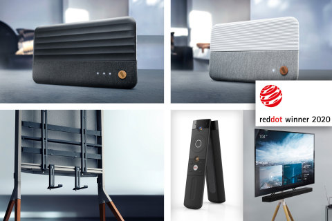 Universal Electronics Inc. won five Red Dot Awards for product design for our One For All Tripod and Falcon Universal TV Stands, One For All fabric Amplified Indoor TV Antennas and Universal Electronics Inc.'s Kita Android TV voice remote control. (Photo: Business Wire)