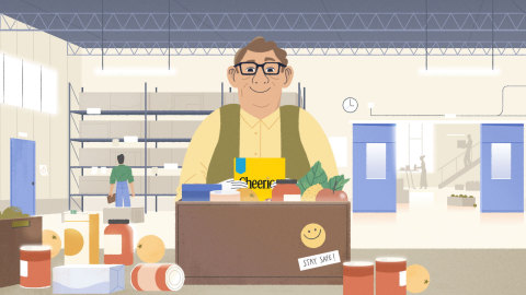 As part of its Cheer the Food Banks Frontline initiative, Cheerios Canada is launching an animated spot that celebrates Canada's frontline foodbank heroes. (Graphic: Business Wire)