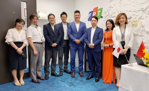 FPT and OutSystems senior executives met at Tokyo last August to discuss strategic partnership (Photo: Business Wire)
