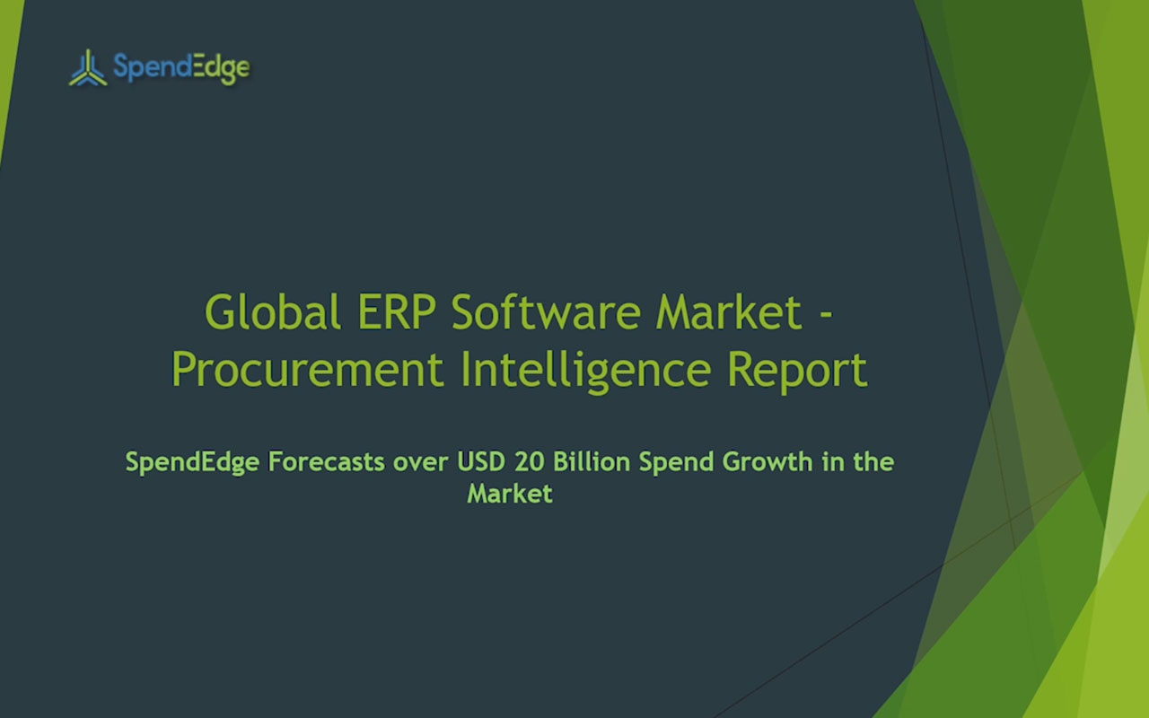 SpendEdge has announced the release of its Global ERP Software Market Procurement Intelligence Report.